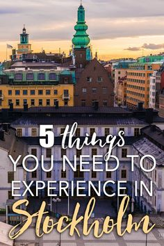 """Heading to Stockholm for an extended visit? Or maybe biting the bullet and moving? Chances are you've already seen all the highlights—Gamla Stan, Djurgarden, maybe the Ice Bar. Where to delve next, with all that extra time? Here are five highlights for an extended stay in the """"Venice of the North""""!"""