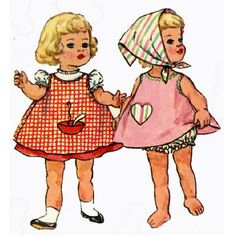 Vintage Doll Clothes PATTERN 4652 for 20 in Chatty by BlondiesSpot, $10.99