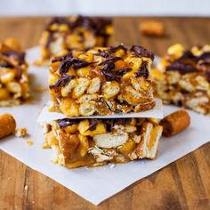 Combos Pretzel and Salted Caramel Peanut Butter Bars...Combos, Corn Pops Cereal, And Peanut Butter, interesting combination but I know it will be tasty. Sweet, salty, crunchy, creamy...what's not to love?!