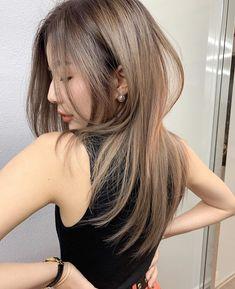 Asian Hair Highlights, Brown Highlights, Asian Short Hair, Asian Hair Dyed, Brown Hair Korean, Hair Inspo, Hair Inspiration, Korean Hair Color, Hair Color Streaks