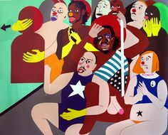 Nina Chanel Abney_Untitled, Acrylic on Canvas