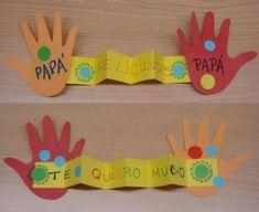 Cinque idee per la festa del papà o della mamma - lavoretti con le impronte |