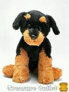 Ty Stuffed Plush Beanie Rottweiler Brutus Puppy Dog 2007 11in