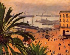 """""""Place du Gouvernement, Argel"""", óleo de Albert Marquet (1875-1947, France)"""