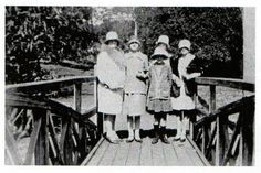 The Bridge in Queens Park in the late to right= Ivy Brown,Ireleen Thompson (later Suter) Doreen Grebert (front) and Lillian Grebert (nee Brown).Woman at back unknown ?i should thank Moreen Larcombe for the info.(my Cousin) Courtesy of Michael Hallinan Port Arthur, History Teachers, Tasmania, Historical Sites, Colleges, Botanical Gardens, Libraries, Museums, Galleries