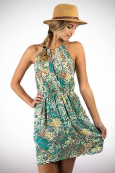 Flower Painting Dress - $32 Available in Small, Medium, and Large
