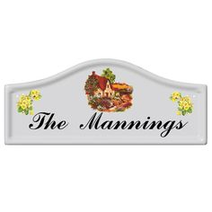 House Name Signs House Name Plaques, House Name Signs, House Number Plaque, House Names, Sign Company, Ceramic Houses, Arched Windows, Bespoke Design, Pottery Ideas
