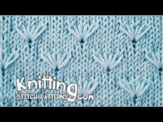 This pattern brightens up a plain stocking stitch garment. Stitch and row markers are very helpful when knitting this stitch - they w. Easy Knitting Patterns, Lace Knitting, Knitting Stitches, Knitting Needles, Stitch Patterns, Knit Crochet, Knitting Videos, Crochet Videos, Knitting Projects