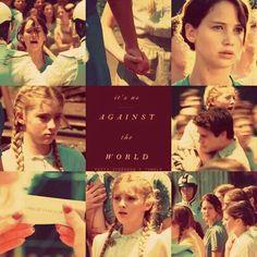 Sisters. Katniss and Prim.