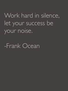 Pure wisdom Frank Ocean!