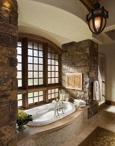 55 Beautiful Dream Bathroom Design Ideas For Your Home Dream Bathrooms, Dream Rooms, Beautiful Bathrooms, Luxury Bathrooms, Master Bathrooms, Master Bedroom, Style At Home, Stone Bathroom, Small Bathroom
