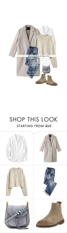 """""""La Promenade / The Walk"""" by halfmoonrun ❤ liked on Polyvore featuring Foxcroft, Wrap, Vanity Fair, Chloé, Vince and chelseaboots"""