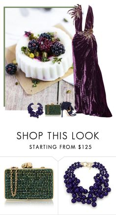 """""""berry"""" by divacrafts ❤ liked on Polyvore featuring Elie Saab, Wilbur & Gussie, Kenneth Jay Lane, Jimmy Choo and Original"""