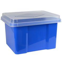 32 Litre Storage & File Box - Blueberry