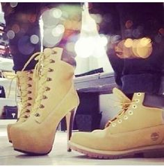 Timberland boots for me and timberland heels for you lol swag 05f85663a85fb
