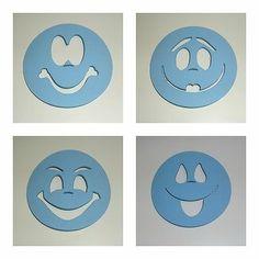 Lote de 4 plantillas para pintar caras de fofucha de 6cm de diámetro mod.3 | eBay