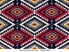 Geometric ethnic oriental seamless pattern traditional Design for background,carpet,wallpaper,clothing,wrapping,Batik,fabric,Vector illustration.embroidery style.