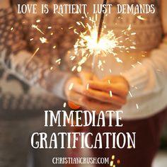 Christian singles, pursue love not lust!