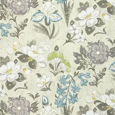 lotus flower - travertine fabric   Designers Guild