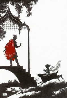 'Next morning the seven-year-old girl took off her clothes, donned a net, took the quail in her hand, sat upon the hare, and went to the palace'~ Niroot Puttapipat, The Wise Little Girl, Illustration for 'Myths and Legends of Russia' by Aleksandr Afanas'ev, Folio Society, 2009