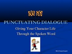Punctuation - Punctuating Dialogue PowerPoint FREE!