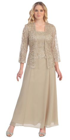 Long Chiffon Silver Mother of Groom Dress Lace Long Sleeve Jacket. Long Chiffon Silver Mother of Groom Dress Lace Long Sleeve Jacket Mother Of Groom Dresses, Bride Groom Dress, Bride Gowns, Mothers Dresses, Mother Of The Bride Dresses Tea Length, Groom Outfit, Plus Size Party Dresses, Tea Length Dresses, Elegant Prom Dresses
