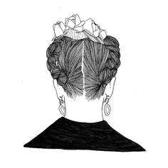 Behind Frida Kahlo Hair Portrait Illustrations of by nosideup