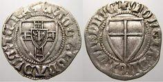 Deutscher Orden Konrad III. von Jungingen 1393-1407.Katalognummer: Neumann 7 a, Voßberg 178 Var.. 1,68g. Schilling Mzz. Kreuz. Mit Komma zwischen D und N bei DNORUM. Neumann 7 a, Voßberg 178 Var.. 1,68g.