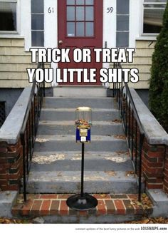 Not Everyone Enjoys Trick Or Treaters