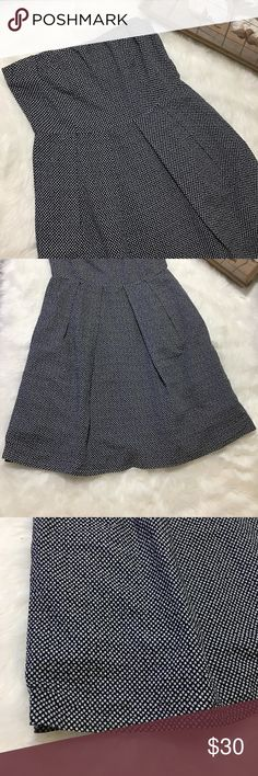 JCREW Polka Dot Navy Blue Strapless Dress Super chic and stylish Strapless navy blue and white Polka Dot dress in great gently Used condition. Size 10. Great for all occasions! 100% cotton. J. Crew Dresses Strapless