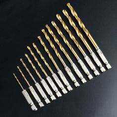 """$17.16 (Buy here: https://alitems.com/g/1e8d114494ebda23ff8b16525dc3e8/?i=5&ulp=https%3A%2F%2Fwww.aliexpress.com%2Fitem%2F13PCS-High-Speed-Steel-Titanium-Coated-Drill-Bit-Sst-1-4-Hex-Shank-1-5-6%2F32262435854.html ) 13PCS High Speed Steel Titanium Coated Drill Bit Sst 1/4"""" Hex Shank 1.5-6.5mm Free Shipping for just $17.16"""