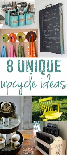 Take something bound for the trash and turn it into treasure with one of these unique upcycling ideas! Home decor projects and more to bring back to life.