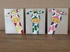 Giraffen www.easywebshop.com/kinderschilderijen