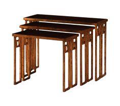 Nesting Tables - Set of Three on Chairish.com