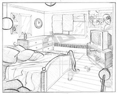perspective drawing point bedroom sketch pencil destroyed students middle draw architecture interior getdrawings sketches reference background drawings blades saw painting