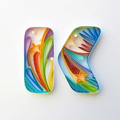 "Indian artist Sabeena Karnik creates outstanding three-dimensional typographic artworks out of colored pieces of paper. She says that her work ""evokes many reactions from the viewer, especially because it is all handcrafted by me and nothing is done digitally"". More typography inspiration via Design You Trust"