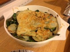 Diary of a Sauce Pot: Rachael's Recipes - Potato, Spinach & Parmesan Gratin