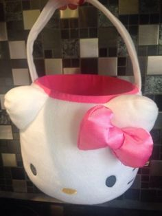 Rare build a bear hello kitty #child size #lange easter #plush basket.,  View more on the LINK: 	http://www.zeppy.io/product/gb/2/112082844747/