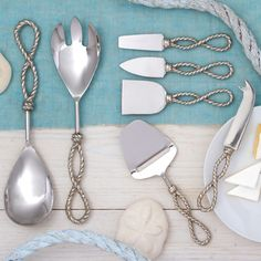 Know Your Ropes Serving Utensil Set #laylagrayce #nautical #gift