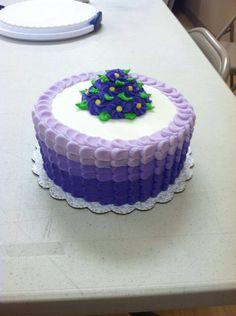 Wilton Course 1 Final Cake