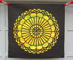 Stained glass - Rose Window quilt by Pat Harned, 2013 ECQG show, ArchiTEXTUREal quilt challenge