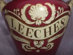 Apothecary jar for Leeches