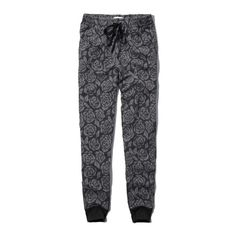 Abercrombie & Fitch Jogger Sweatpants ($9.99) ❤ liked on Polyvore featuring activewear, activewear pants, pants, bottoms, black floral, black sweat pants, drawstring sweatpants, abercrombie & fitch, cotton sweat pants and black jogger sweatpants