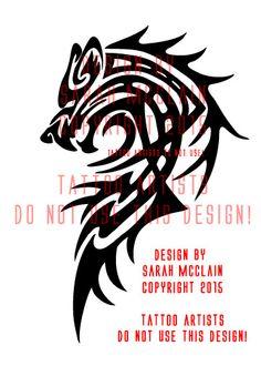Custom Tribal Wolf Tattoo by Draikairion on DeviantArt