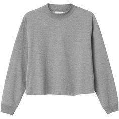 Monki Ebba sweat (44 CAD) ❤ liked on Polyvore featuring tops, sweaters, jumpers, long sleeves, grey cloud melange, print top, grey long sleeve top, turtleneck top, long sleeve turtleneck top and long sleeve tops