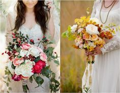 Bridal Bouquets for marriages held in the Fall season