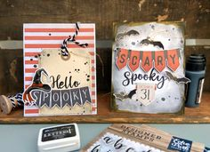 "Halloween Cards by Lydia Cost featuring ""Halloween Market"" and Designer Stamps by #EchoParkPaper"