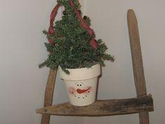 Snowman Shelf Sitter - Winter Decoration by LoveAndStitchesToYou on Etsy