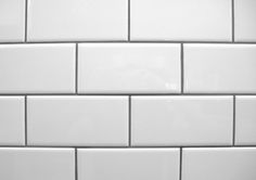 white subway tile with contrasting gray grout                                                                                                                                                                                 More
