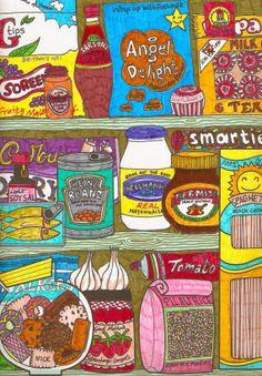 Food in the Pantry by RainbowMermaidArt